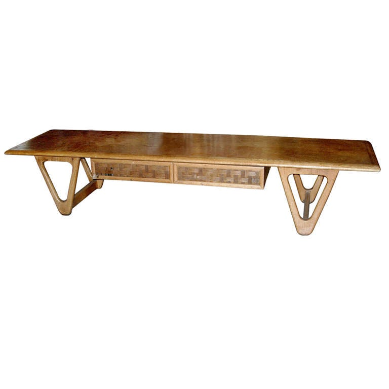 Midcentury Coffee Table of Great Form in the Style of Persal 1