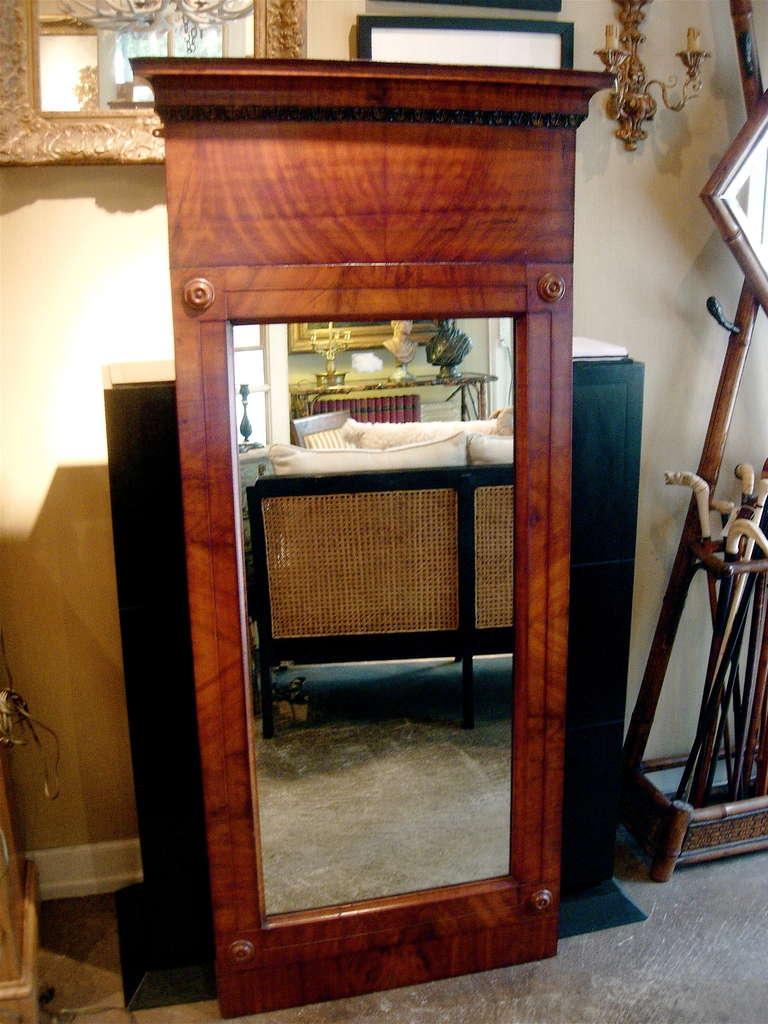 Continental flame mahogany pier mirror.