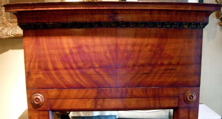 Regency Continental Flame Mahogany Pier Mirror For Sale