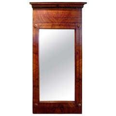 Continental Flame Mahogany Pier Mirror