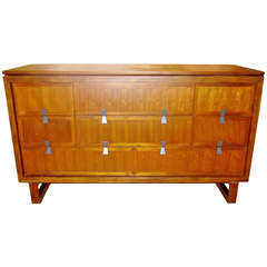 Midcentury Credenza with Brushed Nickel Pulls