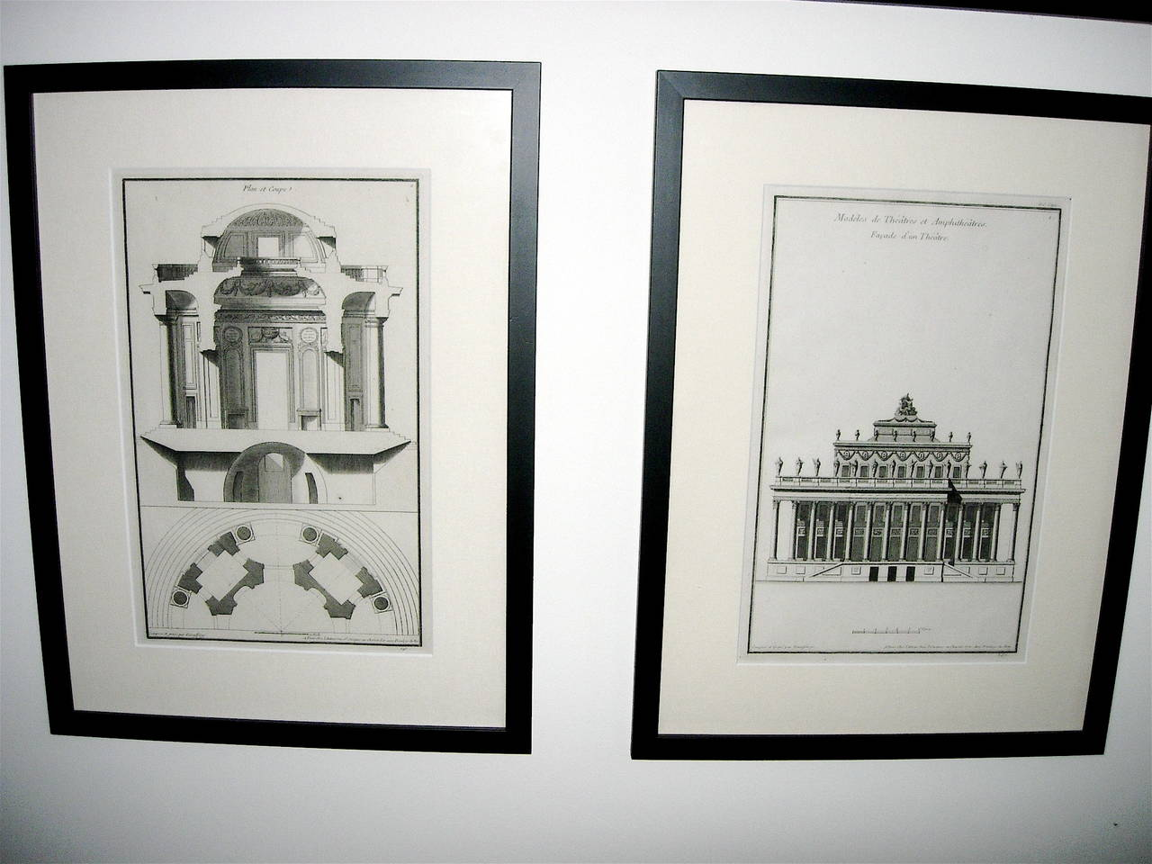 Neoclassical Extensive Collection of 18th Century Architectural Engravings, Priced Per Piece. For Sale