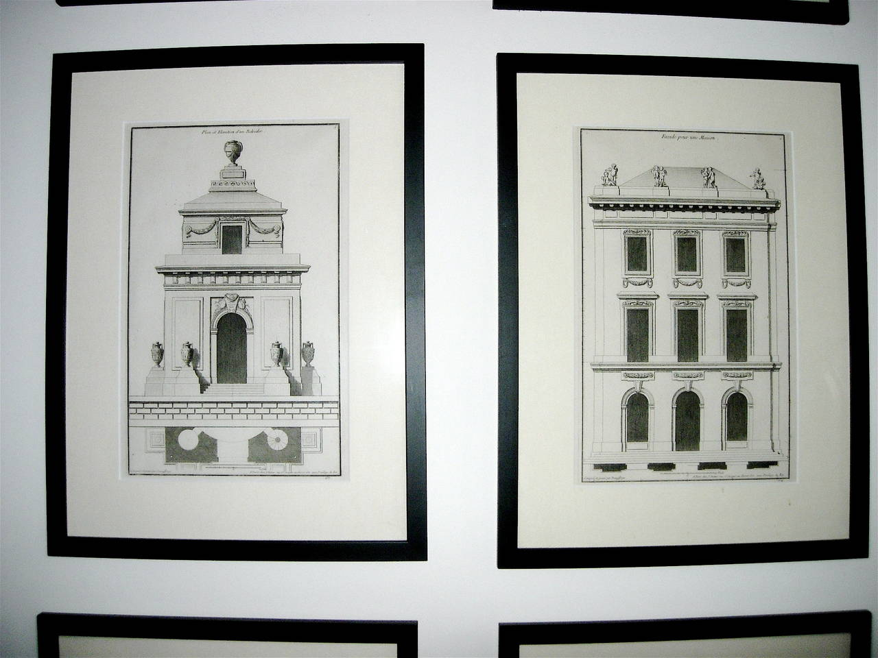 French Extensive Collection of 18th Century Architectural Engravings, Priced Per Piece. For Sale