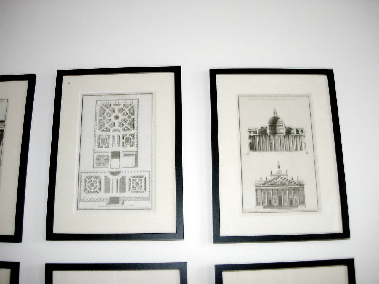 Extensive Collection of 18th Century Architectural Engravings, Priced Per Piece. In Good Condition For Sale In Buchanan, MI