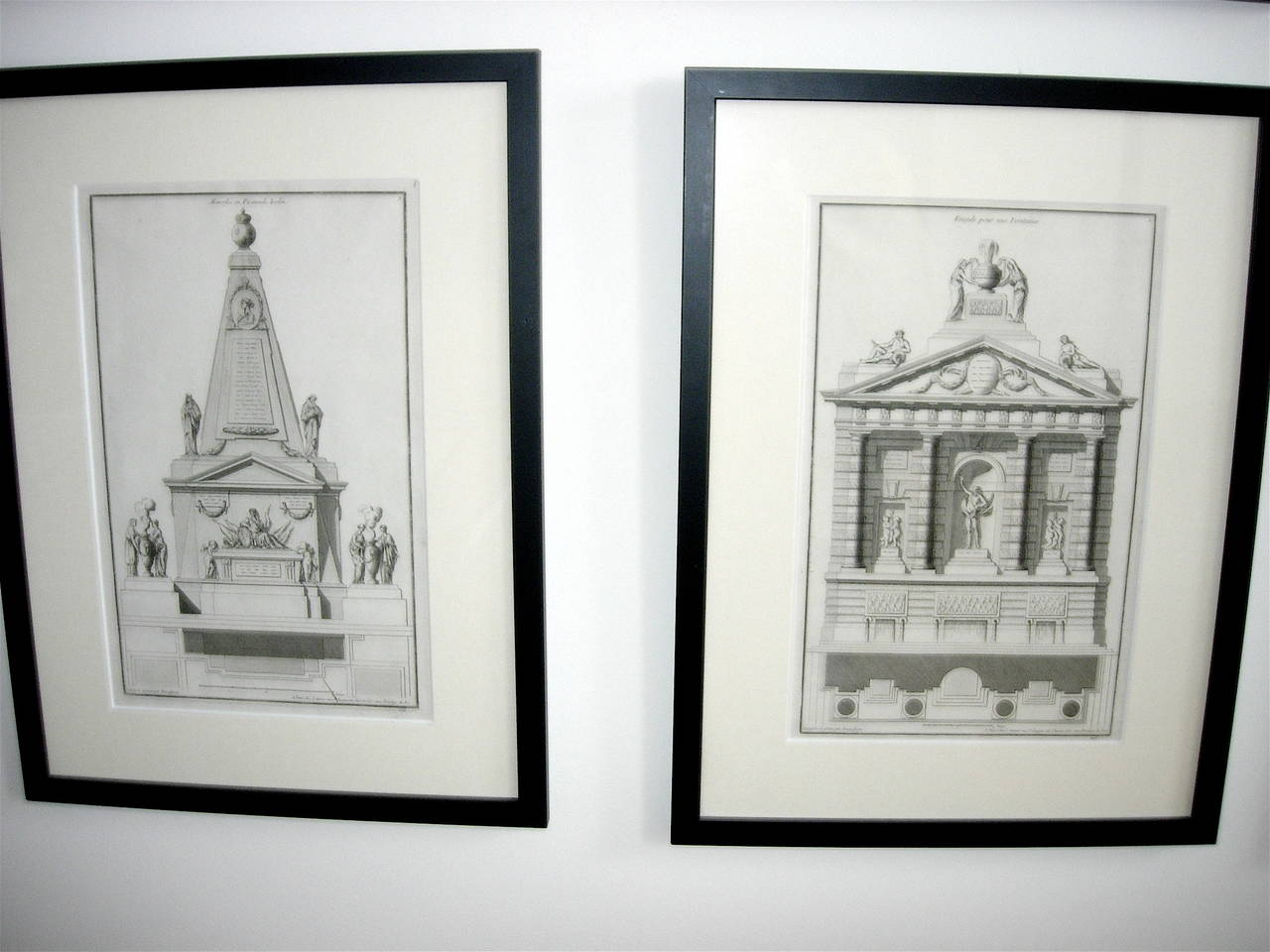18th Century and Earlier Extensive Collection of 18th Century Architectural Engravings, Priced Per Piece. For Sale