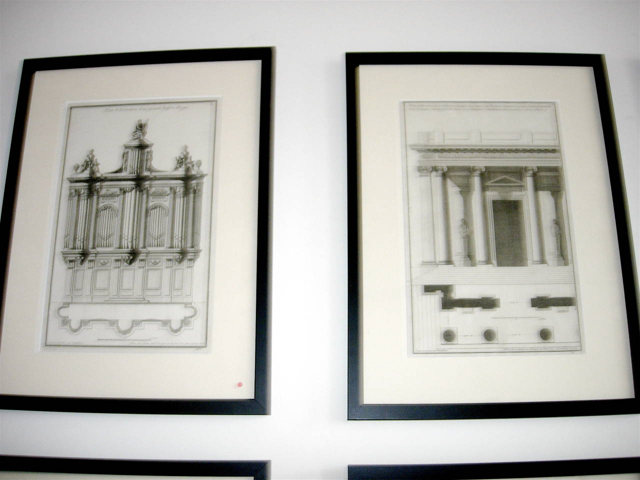 Extensive Collection of 18th Century Architectural Engravings, Priced Per Piece. For Sale 1