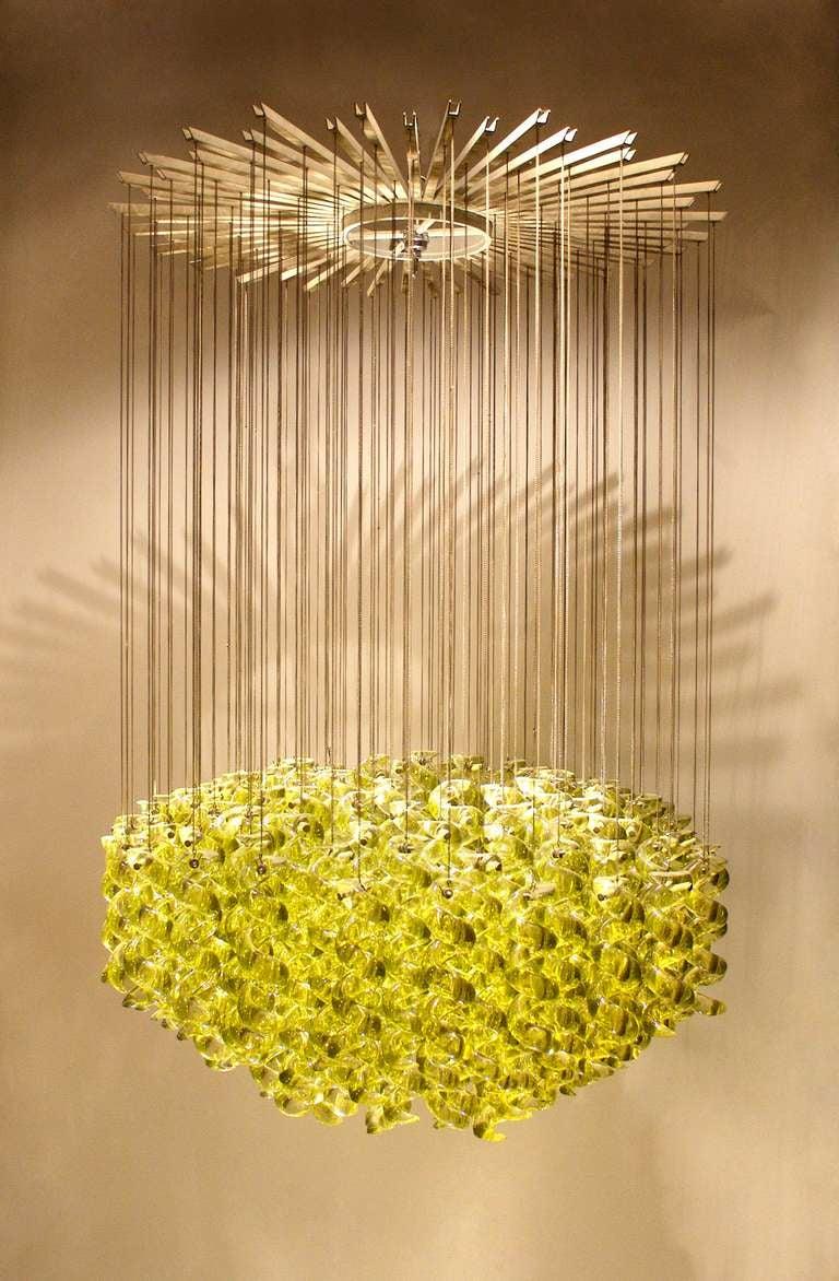 exceptional venetian blow glass pendant light fixture for. Black Bedroom Furniture Sets. Home Design Ideas