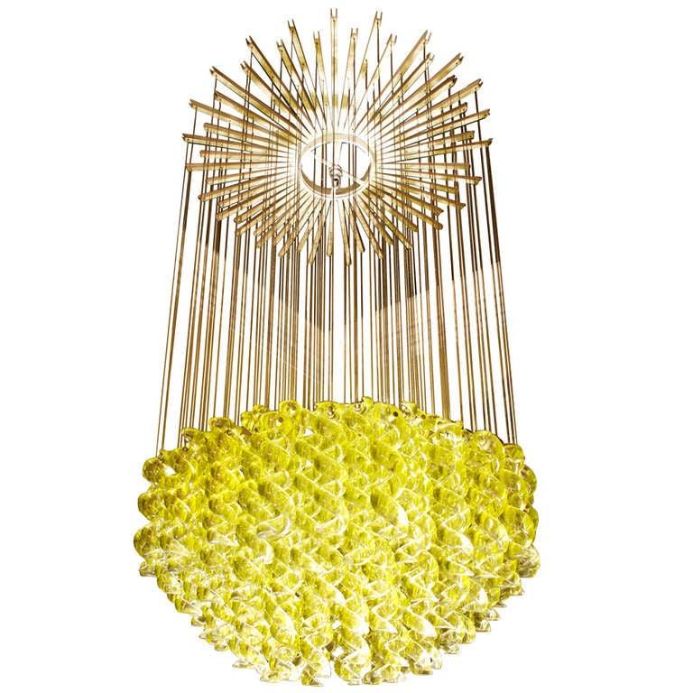 exceptional venetian blown glass pendant light fixture at. Black Bedroom Furniture Sets. Home Design Ideas