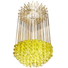 Exceptional Venetian Blow, Glass Pendant Light Fixture