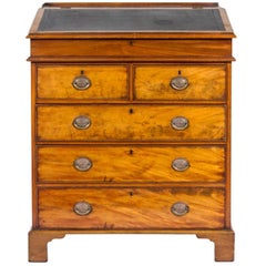 George III Mahogany Standing Bureau,  Great Library Accent Piece, Good Color.