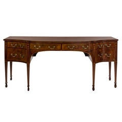 George III Mahogany and Satinwood Inlaid Sideboard