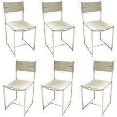 Set of Four Italian Spaghetti Chairs by Giandomenico Belotti