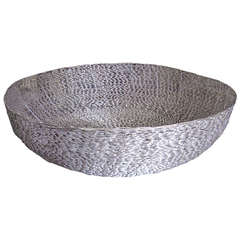 Monumental Woven Metal Center or Accent Bowl