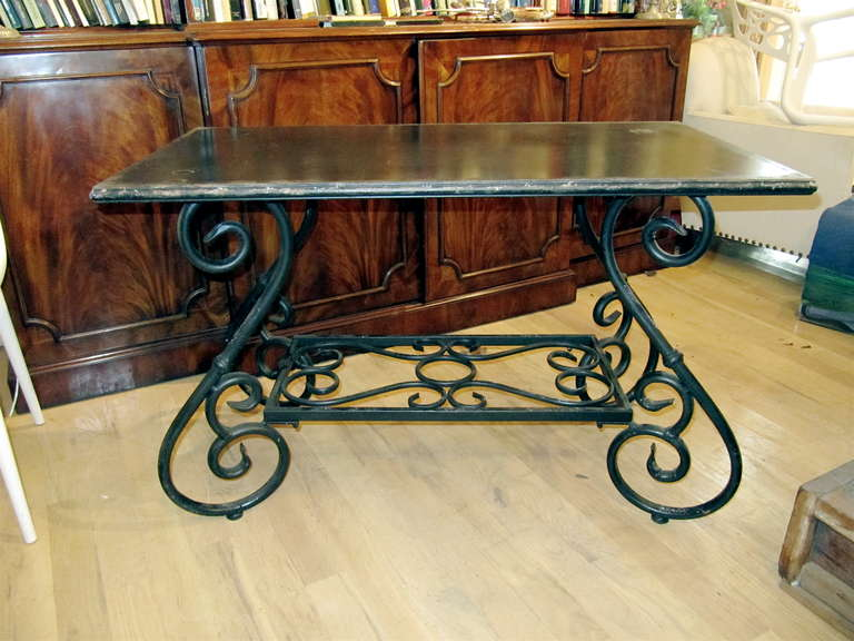 One Pair English Tole Garden Tables Or Console Tables At