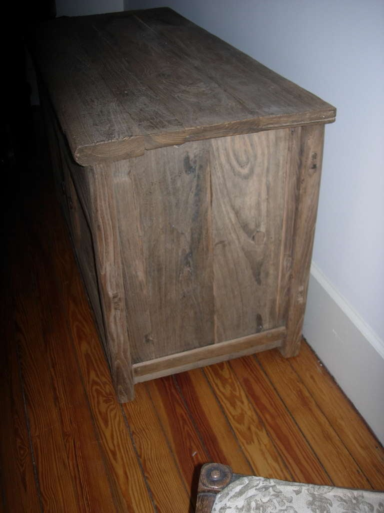 Two-Door Cabinet of Reclaimed Wood In Excellent Condition For Sale In Buchanan, MI