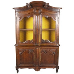 Louis XV Style Carved Oak Cabinet, Great Storage And Great Color/Patination.