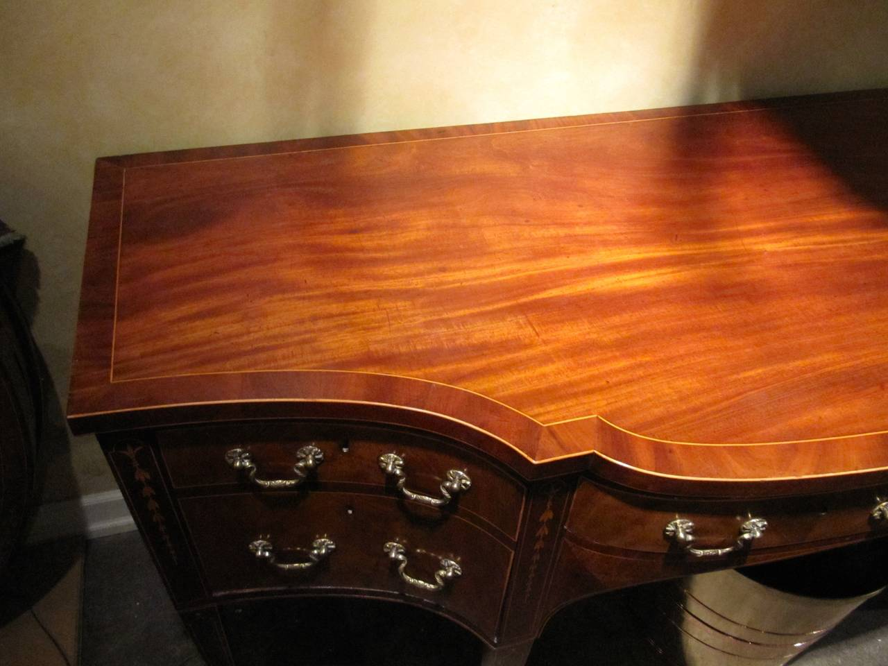 George III Mahogany and Satinwood Inlaid Sideboard 3