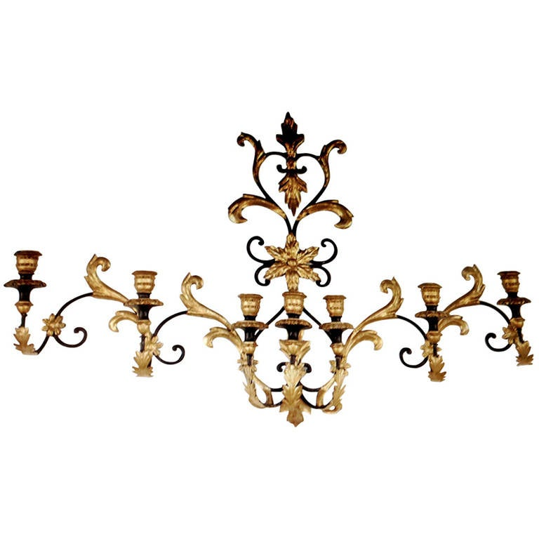 Seven-Arm Monumental Wall Sconce