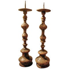 Pair of 18th Century Italian Prickets