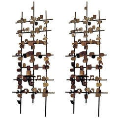 Pair of Midcentury Wall-Mounted Sculptures by Jean Mahan