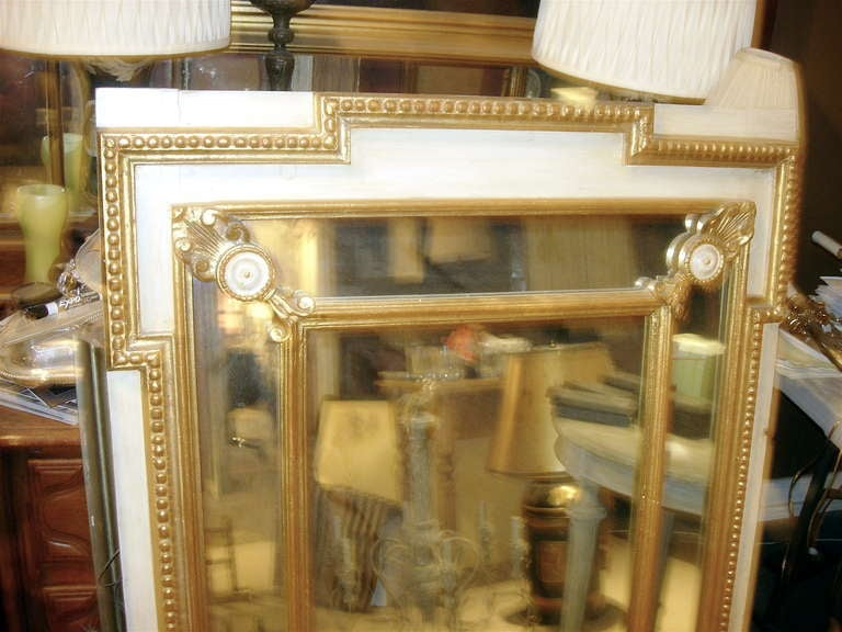 British Regency Style Mirror with Painted and Giltwood Decoration For Sale