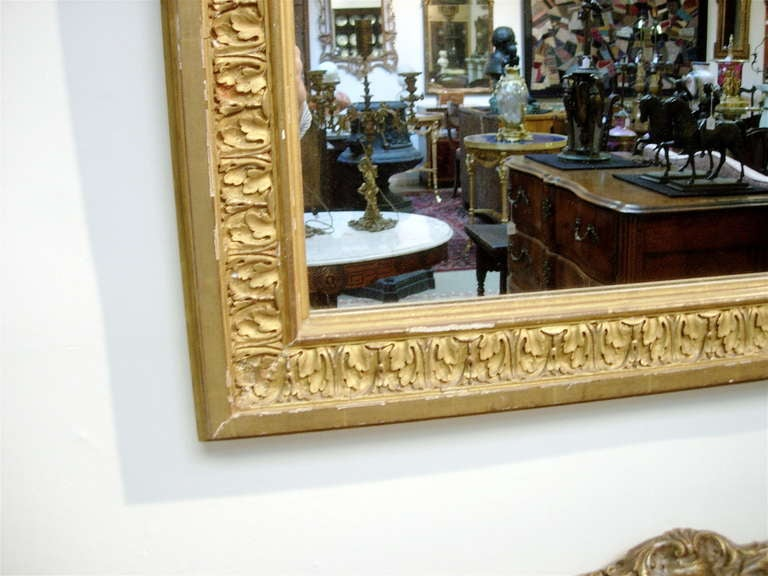 Regency Continental Giltwood Mirror with Original Glass For Sale