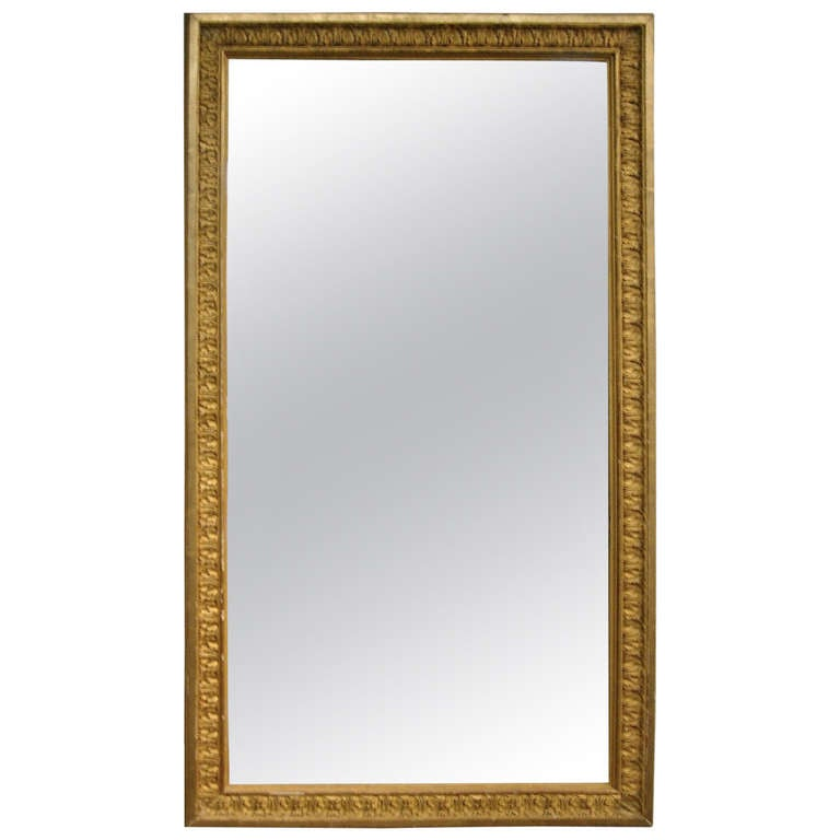 Continental Giltwood Mirror with Original Glass For Sale