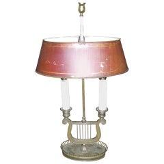 A Directoire Gilt Bronze Bouillotte Lamp,