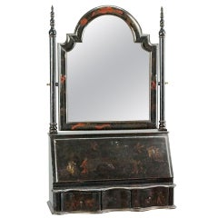 Chinoiserie Ebonized Wood, Fall-Front Vanity
