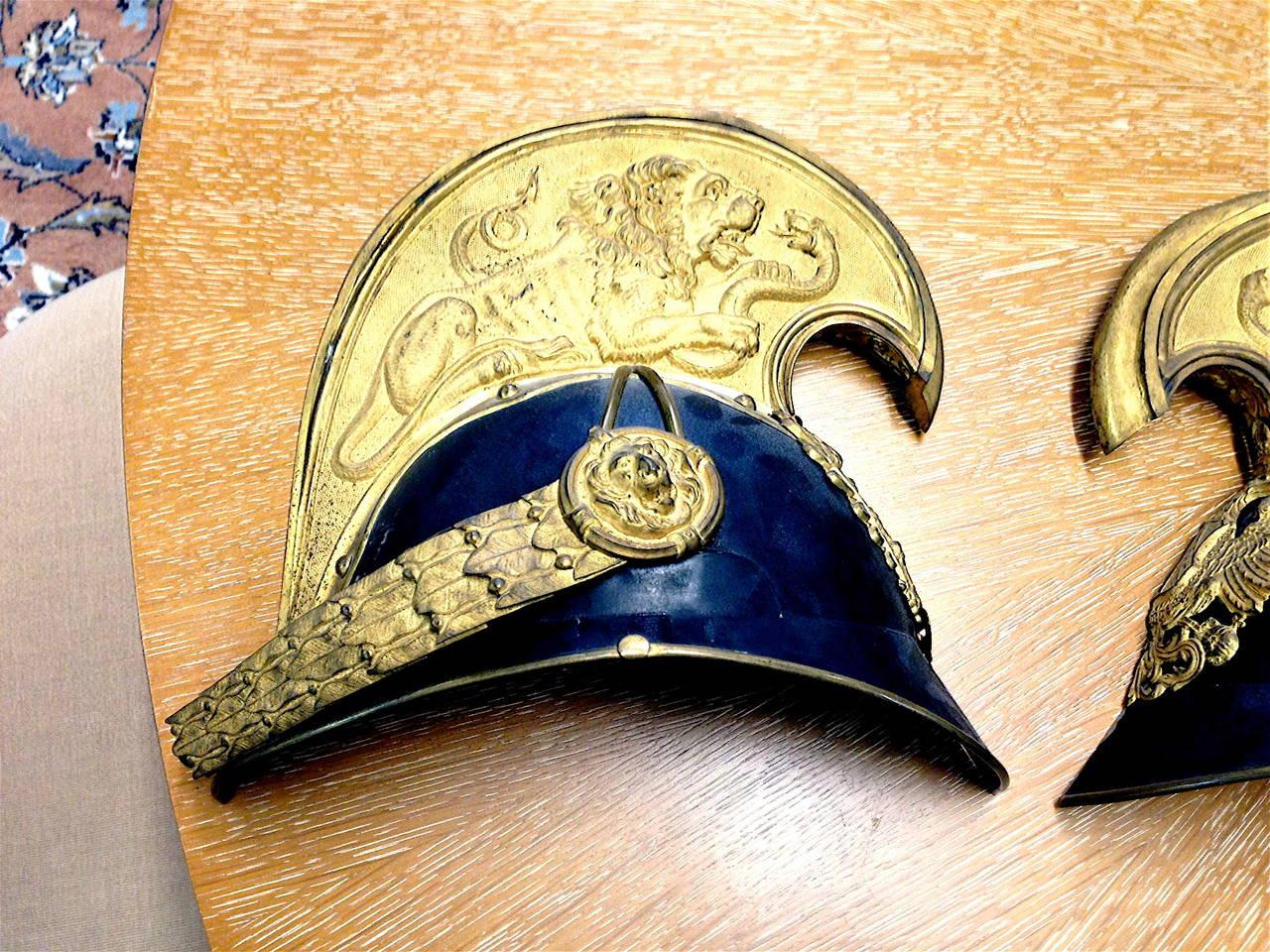 19th Century Austrian Helmet In Excellent Condition For Sale In Buchanan, MI