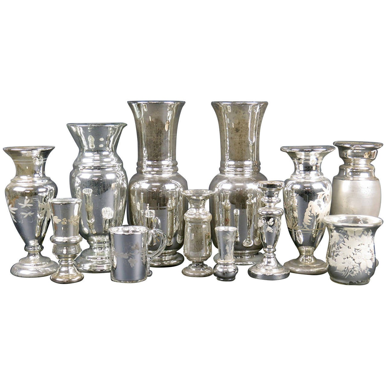Extensive Collection Of Early Mercury Glass For Sale At 1stdibs