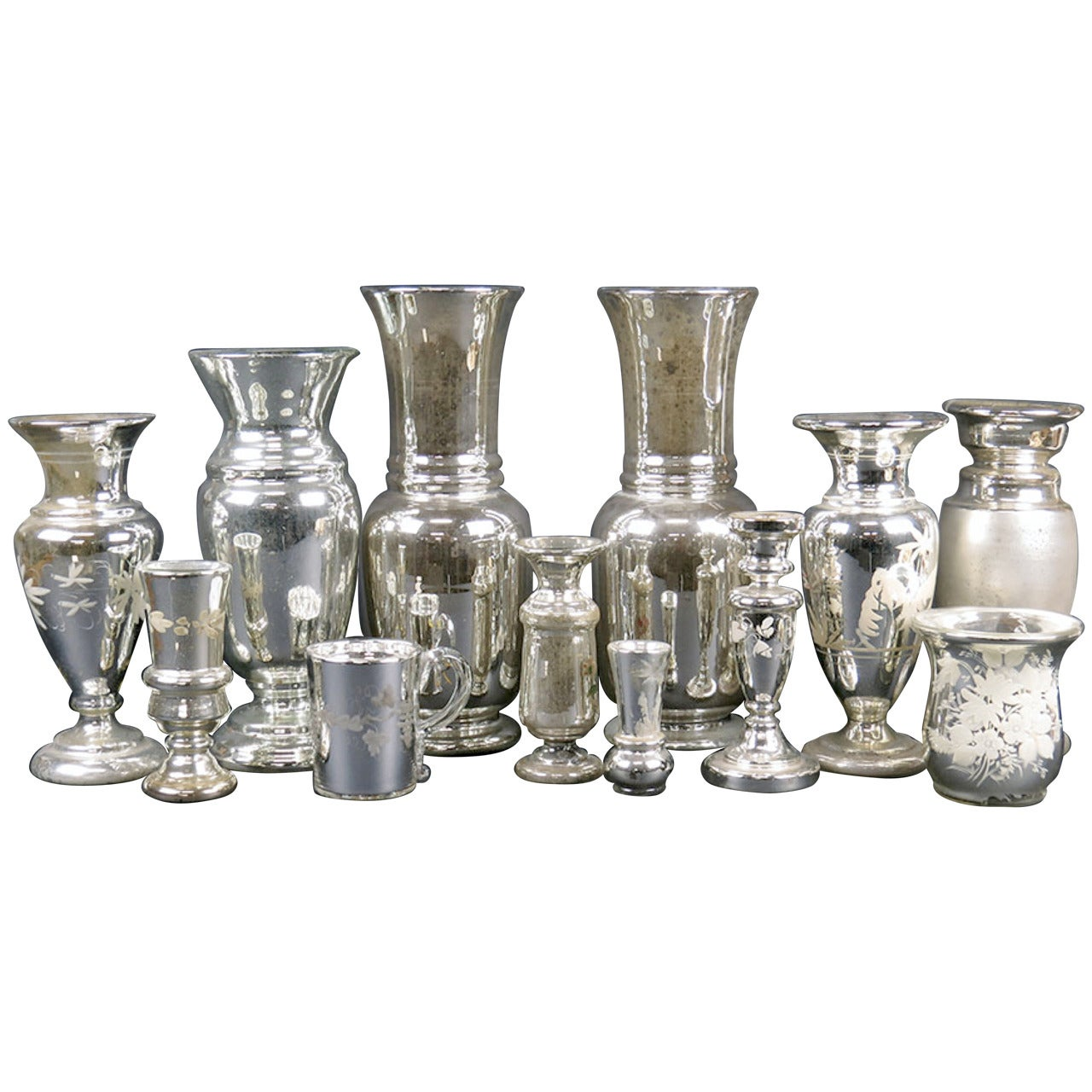 Extensive Collection of Early Mercury Glass