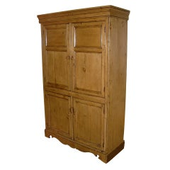 19th Century English Pine Four-Door Cabinet