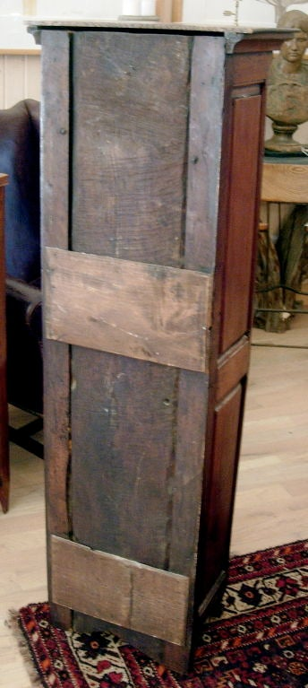 Louis XV Charming Diminutive French Provincial Walnut Cabinet For Sale