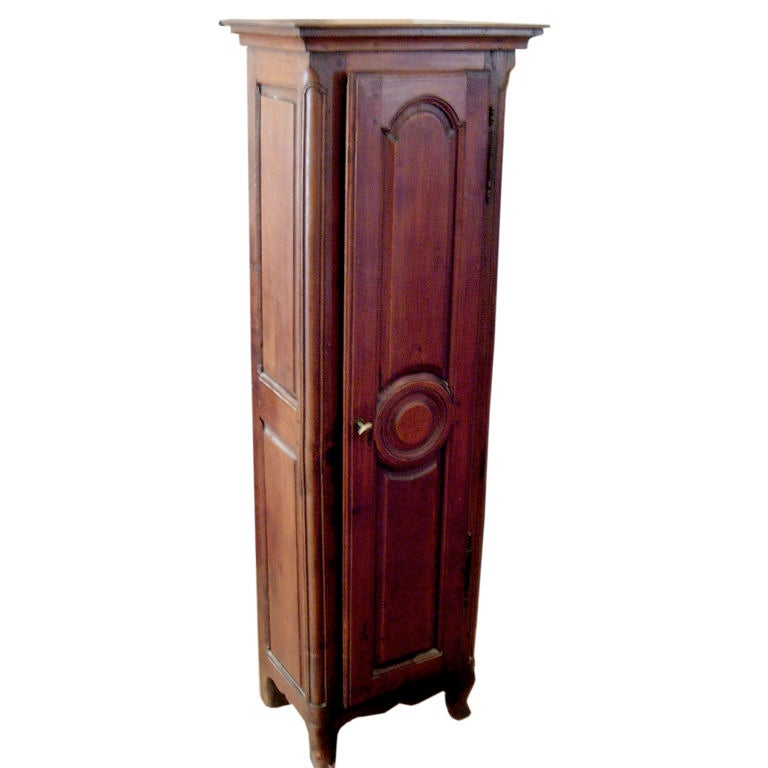 Charming Diminutive French Provincial Walnut Cabinet For Sale