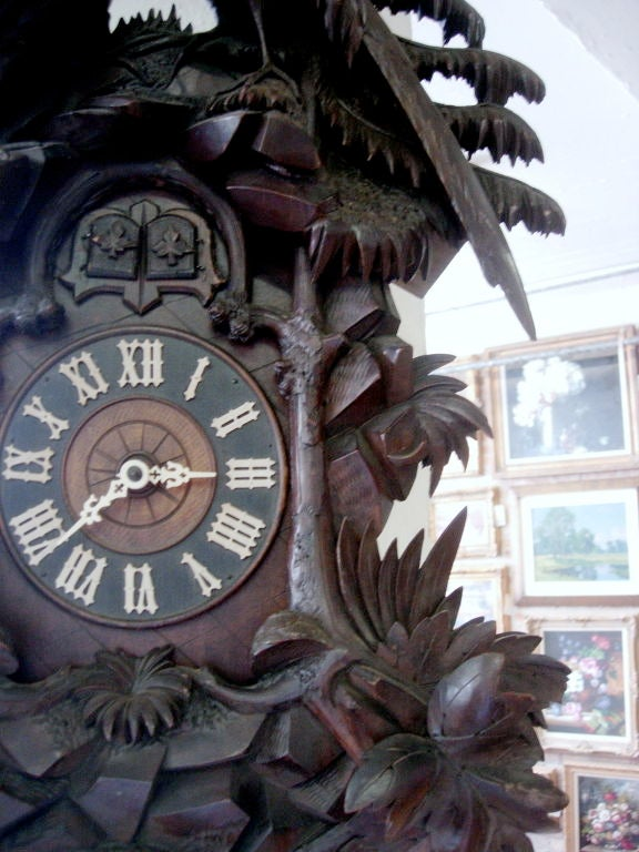 19th Century Black Forest Cuckoo Clock In Excellent Condition For Sale In Buchanan, MI