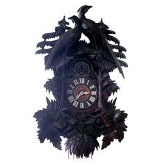 An Important 19th Century Black Forest Cuckoo Clock.  Geo Kuehl, Original Condit