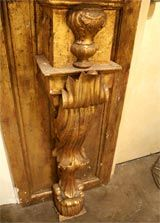 19th century Italian carved wood console or wall bracket. Great entry way piece.
