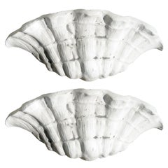 One Pair Shell Form Sconces after Serge Roche.  Nicely Done