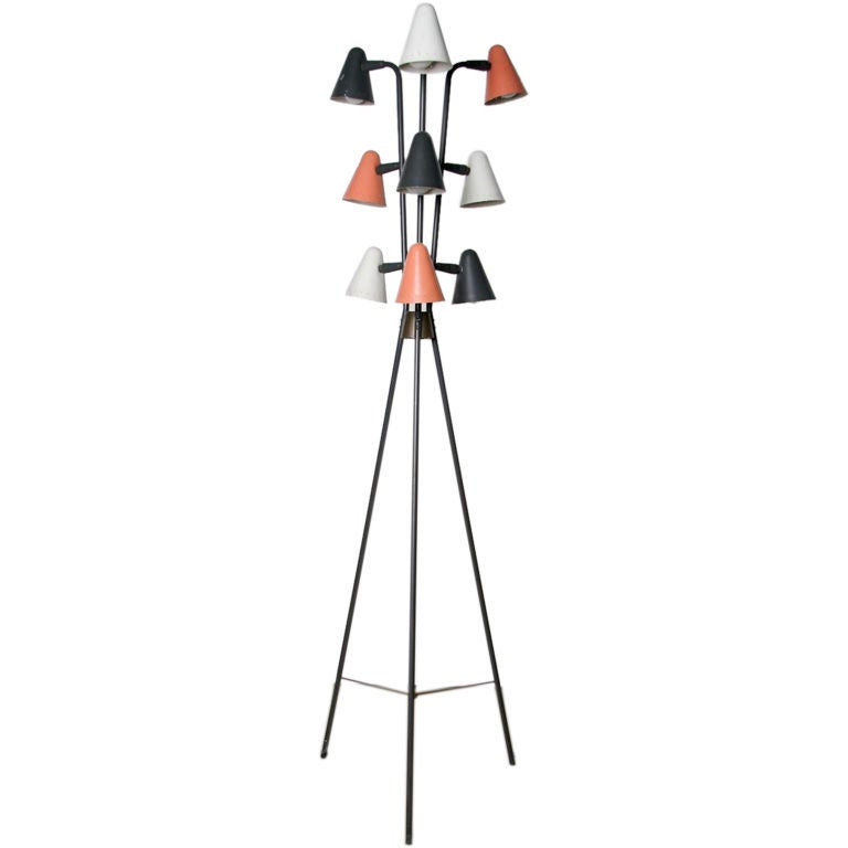 this a multi light 1960 39 s floor lamp after nelson is no longer. Black Bedroom Furniture Sets. Home Design Ideas