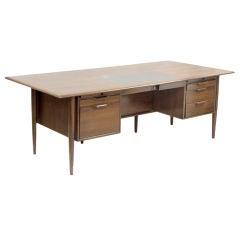 Teak Danish Modern Partner's Desk
