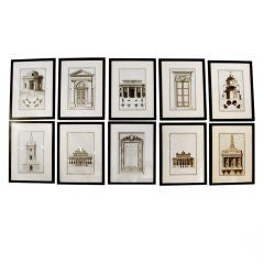 Extensive Collection of 18th Century Architectural Engravings, Priced Per Piece.