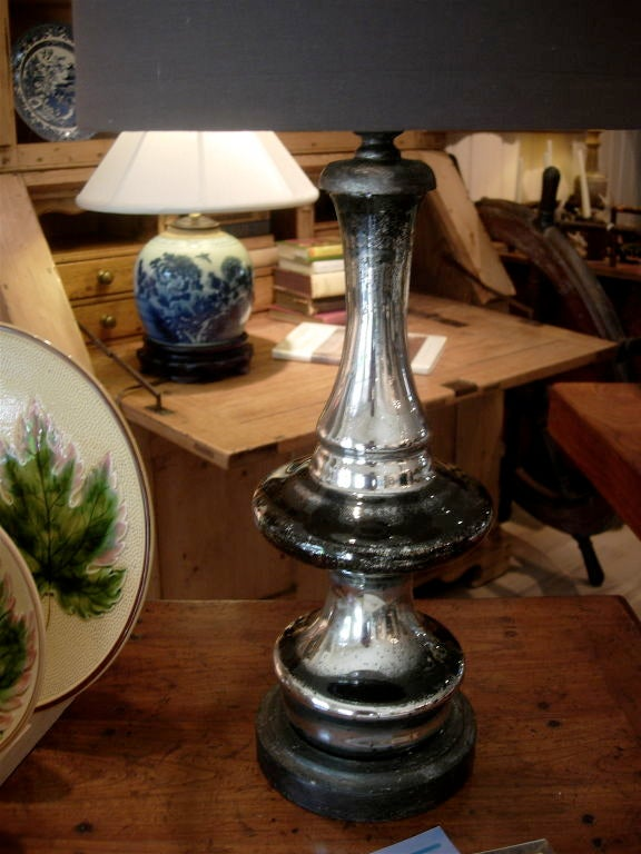 One Pair Of Mercury Glass Lamps For Sale At 1stdibs