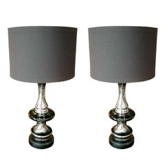 Two Mercury Glass Lamps, Priced per lamp.