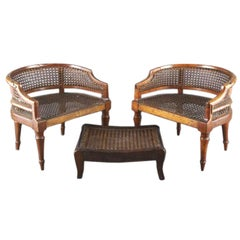 Absolutely Adorable Pair Of English Regency Childs Bergeres
