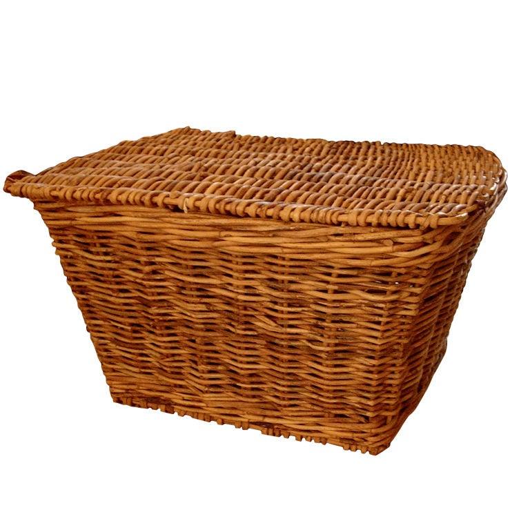 19th Century Monumental English Harvest Basket