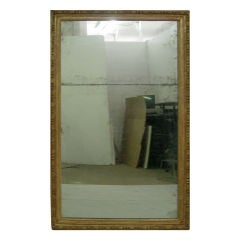 Monumental Gilt Wood Mirror Original Plates