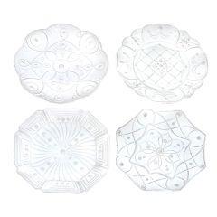 Set Of Four Large Italian White Porcelain Platters