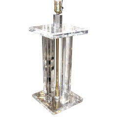 Very Chic Lucite Table Lamp