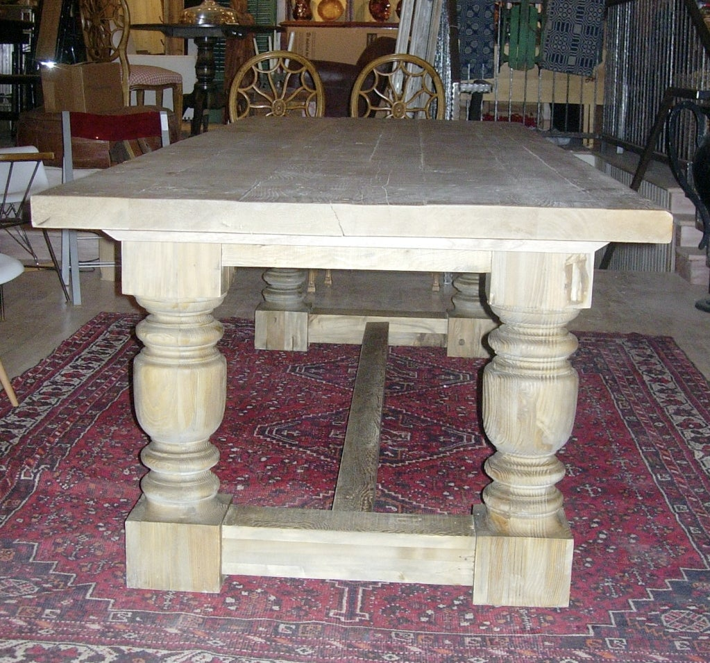 Monumental Harvest Table With Plank Top. image 3